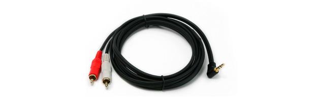 PROCAST Cable c-MJ/2RCA.2 - профессиональный межблочный соединительный звуковой кабель с угловым разъёмом miniJack 3,5mm с одной стороны и 2RCA с другой