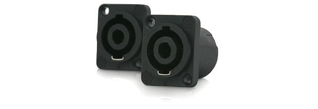 PROCAST Cable F-SP4NP – панельная 4-контактная розетка под разъем спикон (speakON), 30A, посадка - тип D