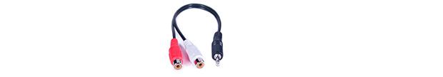 PROCAST Cable A-MJ/2RCA-F – переходник 3,5mm miniTRS Jack(male) / 2RCA(female) для коммутации стереофонического аудио сигнала