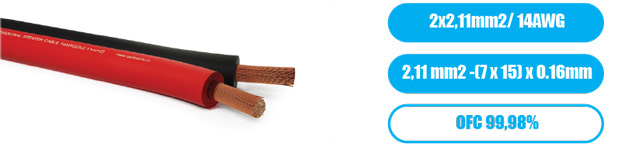Профессиональный инсталляционный спикерный (акустический) кабель PROCAST Cable SBR14.OFC.2,11