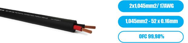 Профессиональный инсталляционный круглый всепогодный спикерный кабель PROCAST Cable SJB 17.OFC.1,045