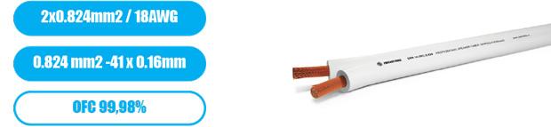 Профессиональный инсталляционный спикерный (акустический) кабель PROCAST Cable SWH18.OFC.0,824