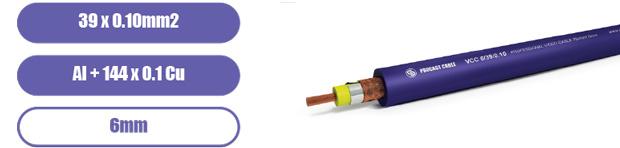 Профессиональный инсталляционный каоксиальный видео кабель PROCAST Cable VCC 6/39/0.10